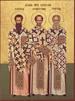 Святители Василие Великий, Григорие Богослове и Иоанне Златоусте, молите Бога о нас!